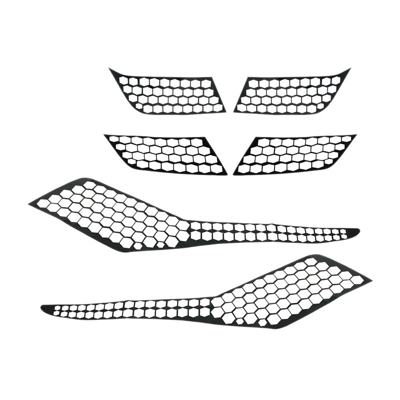 for Peugeot 3008 3008GT 2019 Car Rear Tail Light Lamp Cover Honeycomb Stickers Protector Taillight Decoration Decal