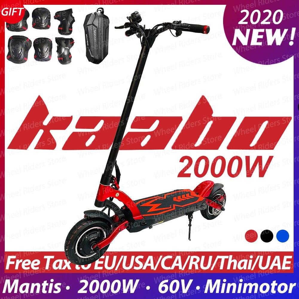 2020 Original Kaabo Mantis motor dual e-scooter 2000W LG batería 60V 24.5Ah scooter eléctrico de dos ruedas patineta plegable