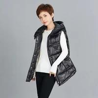 2021 new winter jacket womens vest coat glossy stand collar short vest jacket cotton padded parka warm female waistcoat outwear