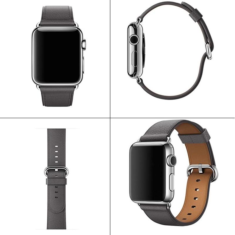 Litschi Muster Apple 4 3 2 1 Uhr Gürtel 38 MM 40 MM IWatch 5 42 MM 44 MM Damen lederband Männer Leder Uhren Band 2020