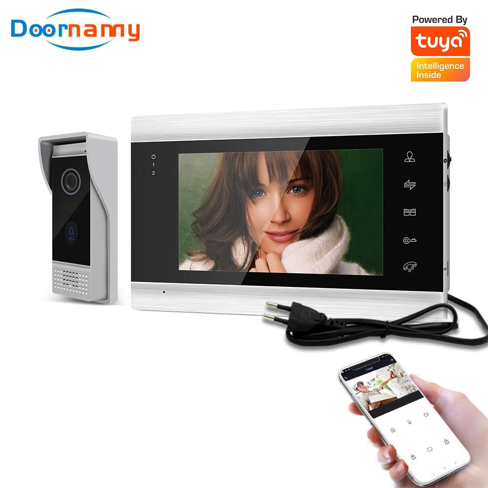 Doornanny Video Intercom System For Home Apartments Video Doorbell System 720P AHD Tuya Smart WiFi APP Remote Unlock