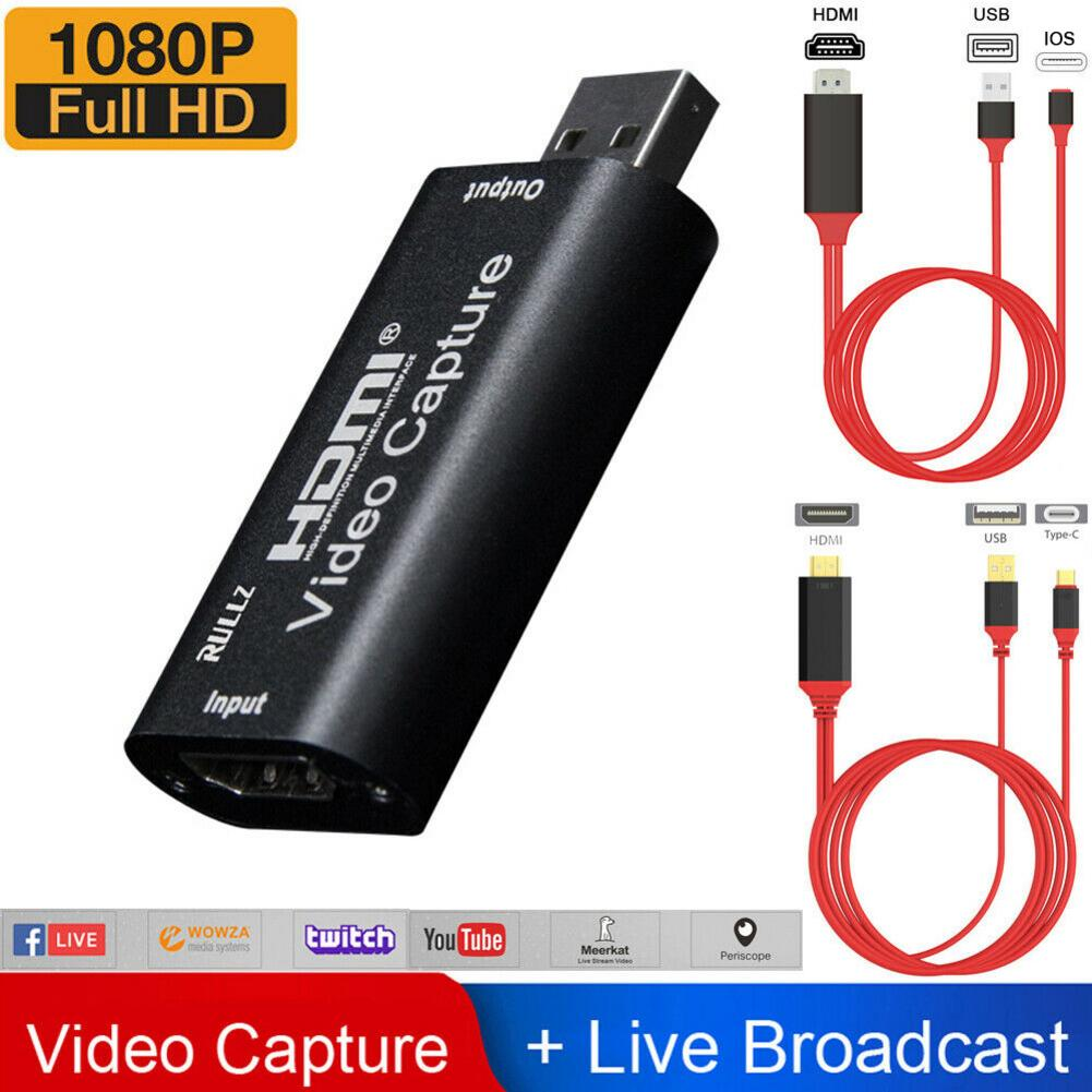 En Stock, HDMI a USB, tarjeta de captura de vídeo, Audio, tarjeta de captura de vídeo para 4K1080P, grabadora, Video Juego, Streamer, transmisión en vivo