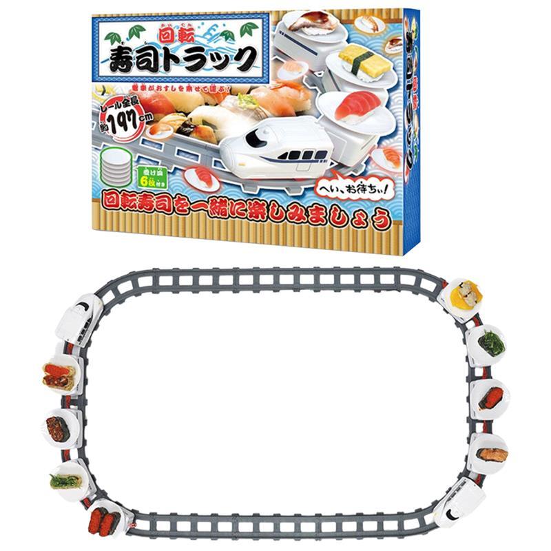 Суши поезд поворотный игрушечные суши трек конвейерная лента с поворотным столом детское питание Паровозик-конструктор DIY суши Семья суши ...
