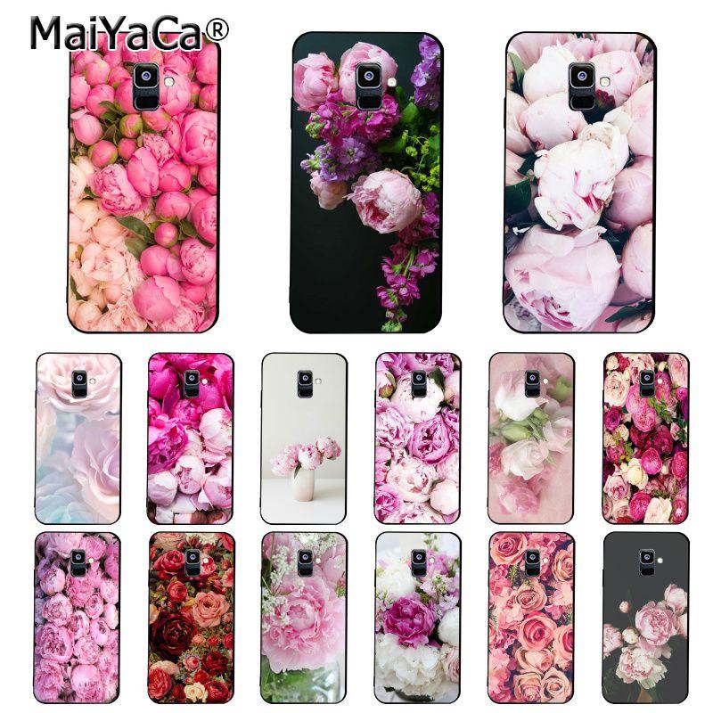 MaiYaCa flower peony pink beauty fresh peonies Phone Case For Samsung Galaxy A7 A8 A6 Plus A51 A71 A9 2018 A50 A70 A20 A30 A40