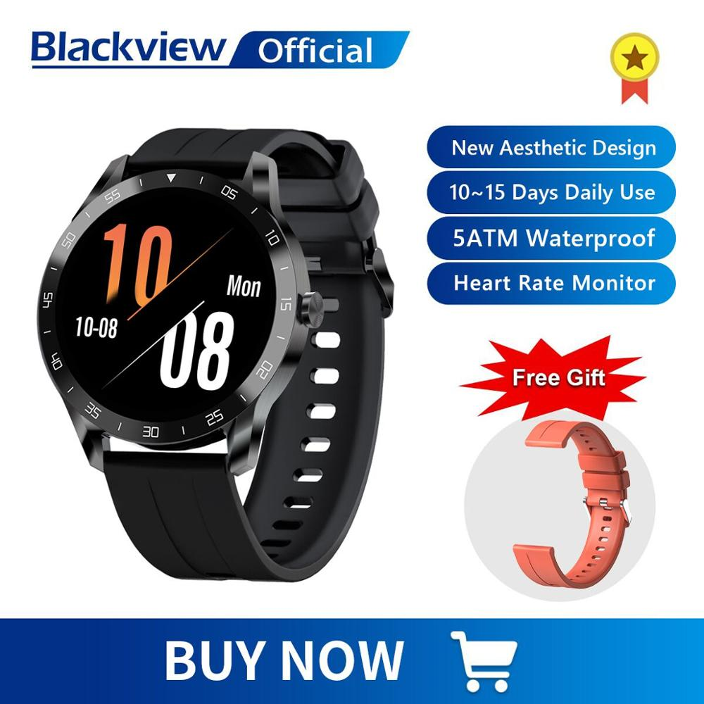 Blackview X1 SmartWatch 5ATM Waterproof Heart Rate Men Women Sports Clock Sleep Monitor Ultra-Long Battrey for IOS Android Phone