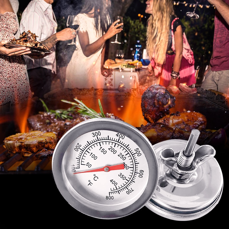 50℃~400℃ Household Merchandises Thermometers Stainless Steel Barbecue BBQ Smoker Grill Thermometer Temperature Gauge