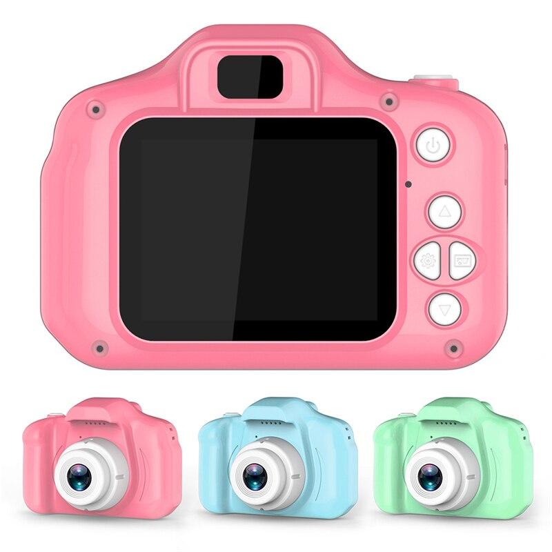 Kids Digital Camera 2 Inch HD Screen Cartoon Cameras Video Recorder Camcorder Children's Birthday Gift Boys Girls Toys Fun Games