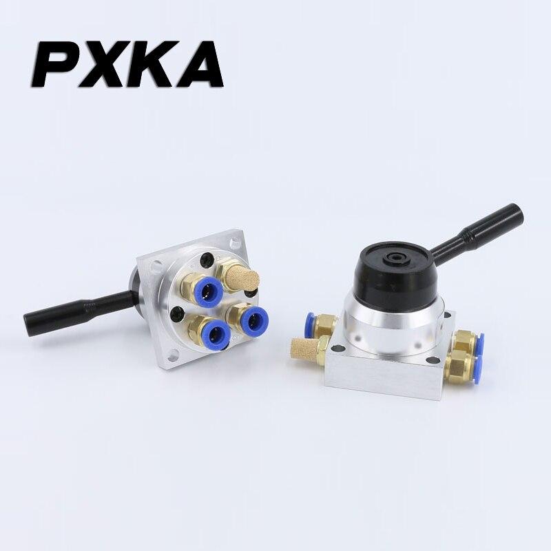 Free shipping Pneumatic manual valve manual rotary valve K34R6-8D/K34R6-8L manual valve cylinder control valve 3-position 4-way