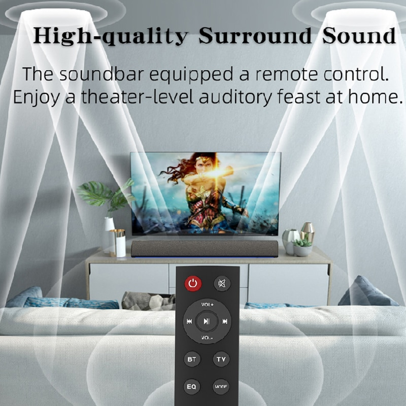 Bluetooth Wireless Speaker RGB Soundbar with Family Karaoke Microphone Home Theater System 3D Sound Bar Speakers for TV/phone/PC enlarge
