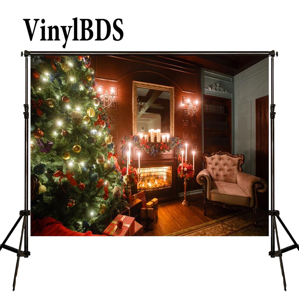 Vinilbds fondos De fotografía Navidad telón De fondo Arbol De Navidad Madera...