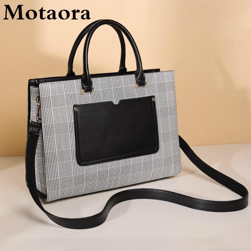 Motaora-حقيبة كمبيوتر محمول عصرية ، حقيبة عمل احترافية للنساء ، 14 بوصة ، كمبيوتر محمول ، حقيبة مكتب كبيرة السعة A4