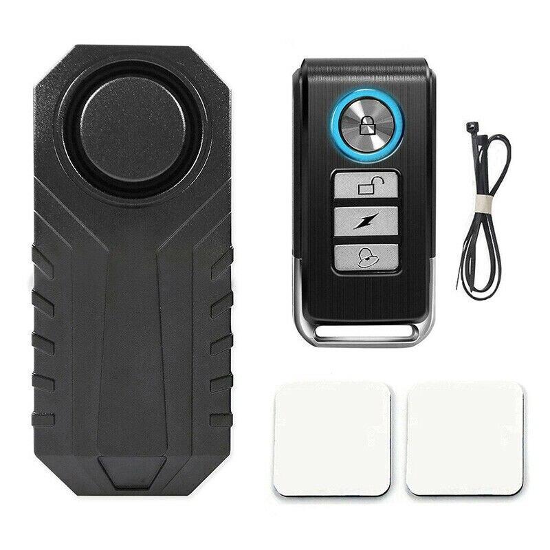 113db à prova d113água de controle remoto da bicicleta motocicleta veículo elétrico anti perdido lembrar vibração aviso alarme sensor