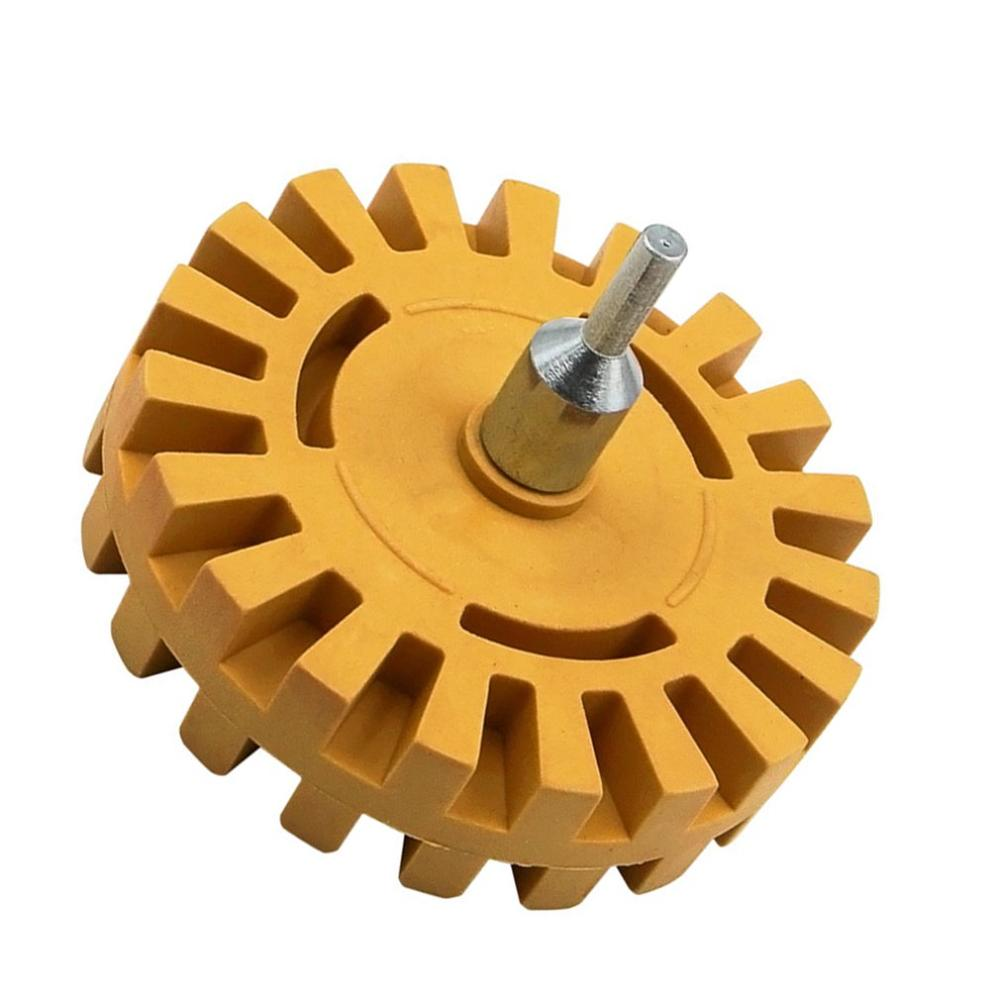 4 Inch Universal Rubber Eraser Wheel For Remove Car Glue Adhesive Sticker Auto Repair Paint Tool Rubber Eraser Wheel Dropship
