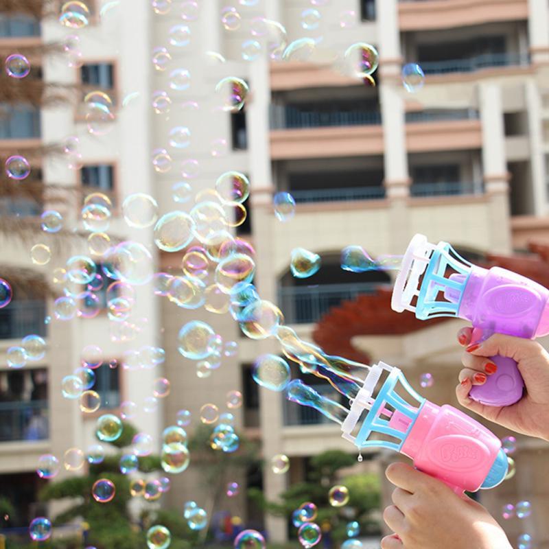 Bubble Blower Machine Toy Gun Kids Soap Water Bubble Gun Toys Gift For Children Manual Gun Blower Outdoor Kids Child Toys