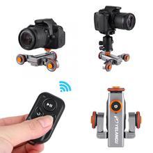 Yelangu L4X Mini Gemotoriseerde Elektrische Track Slider Motor Dolly Truck Auto Afstandsbediening Voor Camera Camcorder Dv Voor Canon Camera