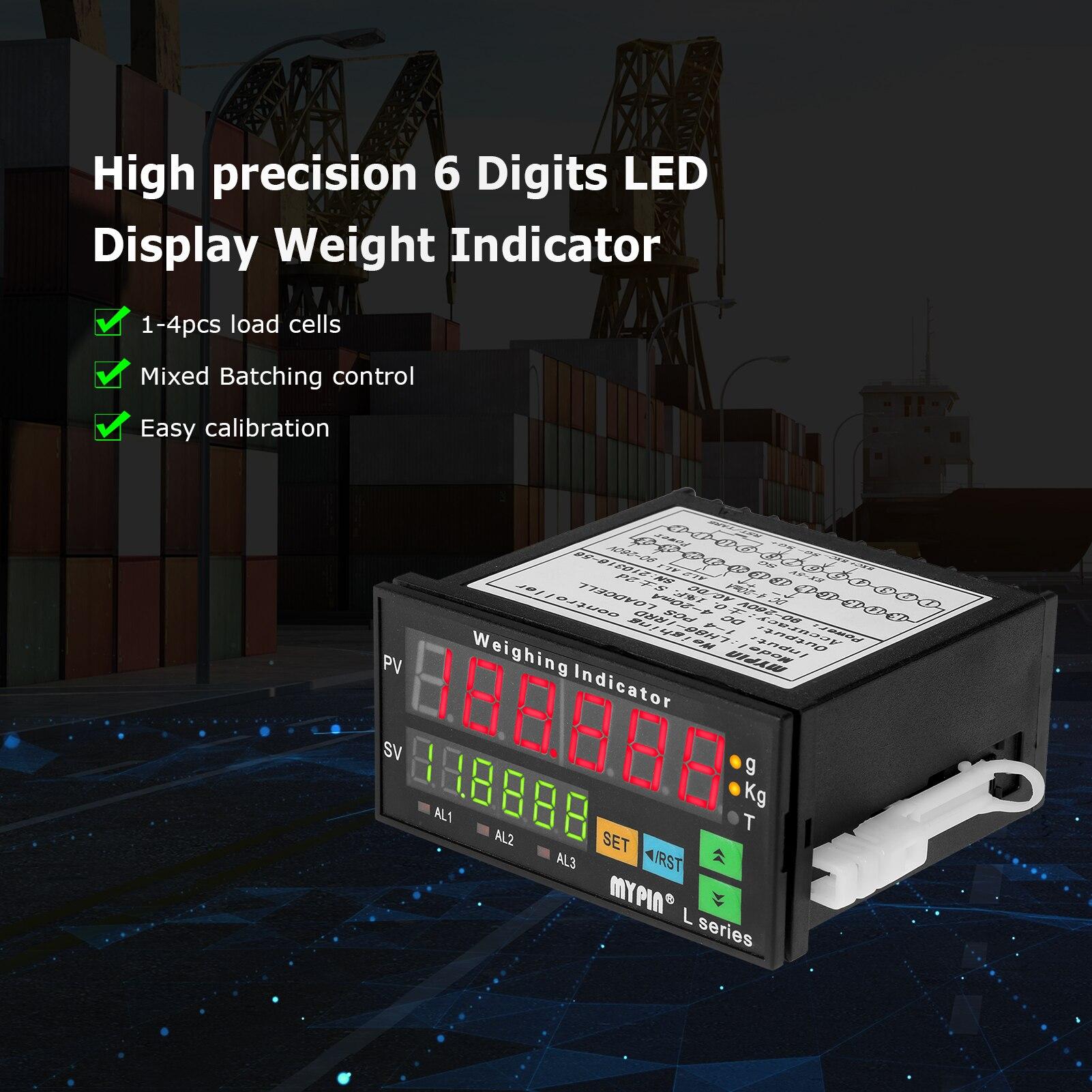 Mypin LH86-IRRD 6 أرقام LED عرض مؤشر الوزن عالية الدقة الرقمية وزنها تحكم مؤشر الحمل الخلايا