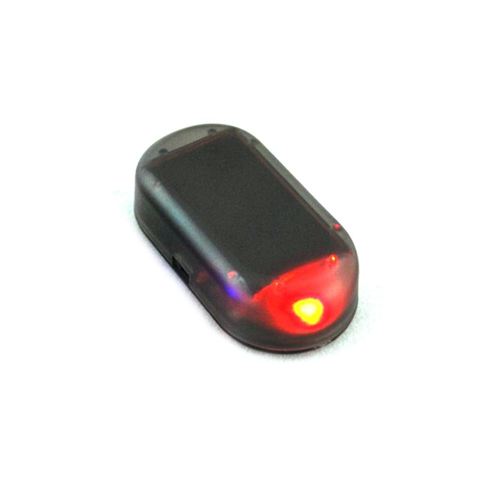 Simulación Solar, luces de advertencia antirrobo, luz Led de alarma Solar falsa para coche, sistema de seguridad, antirrobo, luz intermitente roja