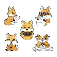 cute enamel pins brooches womens badges for clothes metal fox anime brooch pin enamel badges for women jewelry aesthetic pins