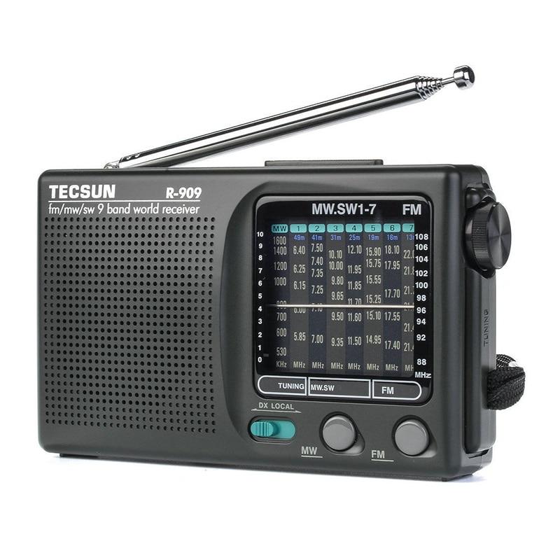 2019 Newly Tecsun R-909 R909 Radio FM / MW / SW 9 Band Word Receiver Portable Radio tecsun R909 Stereo radio convenient radio