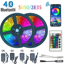 LED Strip Light Bluetooth luces Led RGB 5050 2835 Waterproof  Flexible Lamp Tape Ribbon With Diode T