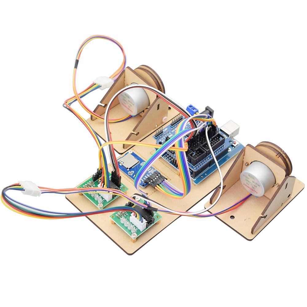 Full set Pull Line Plotter Wall Painting Robot Maker Project Kit for Arduino DIY STEm Toy