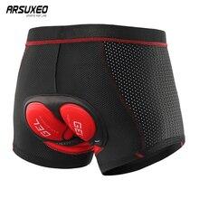 ARSUEXO 2020 hommes mise à niveau sous-vêtements de cyclisme 3D Gel Pad antichoc vélo Shorts vtt VTT sous-vêtements vélo Shorts 001C