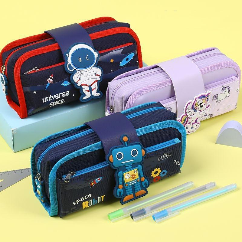 Detachable cute pencil case School stationery bag large capacity pen case Cartoons pen bag Children