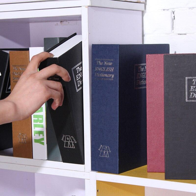 Safe Box Books Secret Stash Security Secret Key Hidden Safe Lock Money Compartment Cash Book Hide Case Storage Locker Decoration
