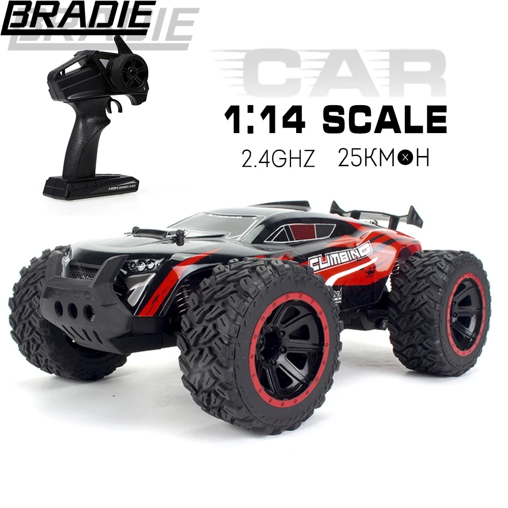 Rc Cars Off Road 1:14 Scale 2.4GHz 2WD High Speed Fast Remote Control Racing Car USB Charging Off-Road Vehicle for Kids