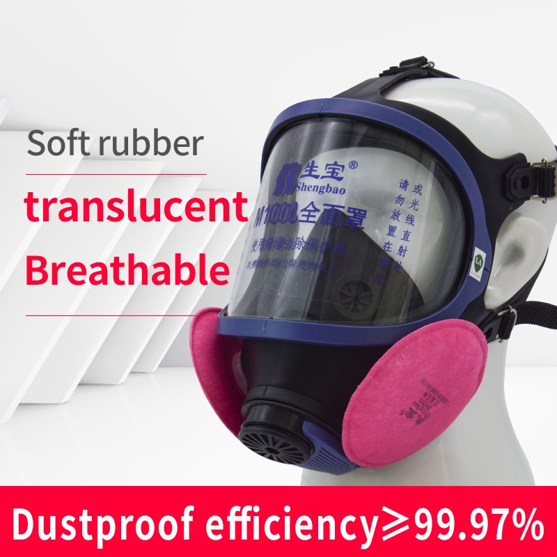 mascara quimica de poeira mascara de gas facial completa respirador de vapor organico