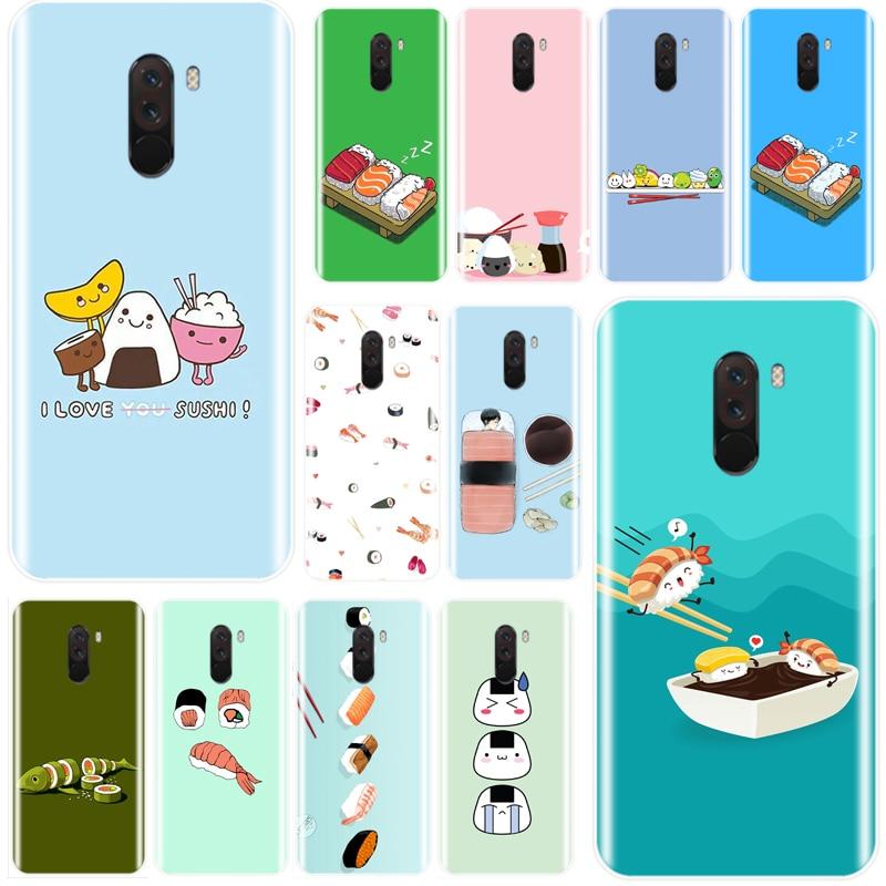 Sushi comida japonesa de amor encantadora cubierta de silicona suave TPU caja del teléfono funda para redmi 4 4A 4X 5A 5 PLUS 6 7 nota 4 5 5 5 6 6 7 4X 5A 5 6 pro