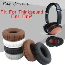 Ear Pads For Thinksound On1 On2 Headphone Earpads Replacement Headset Ear Pad PU Leather Sponge Foam