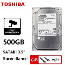 "Unidad de disco duro TOSHIBA 500GB vigilancia disco duro interno 3,5 ""DVR NVR CCTV unidad de disco duro HDD HD SATA 3 5700RPM 32M 3,5"" disco duro"