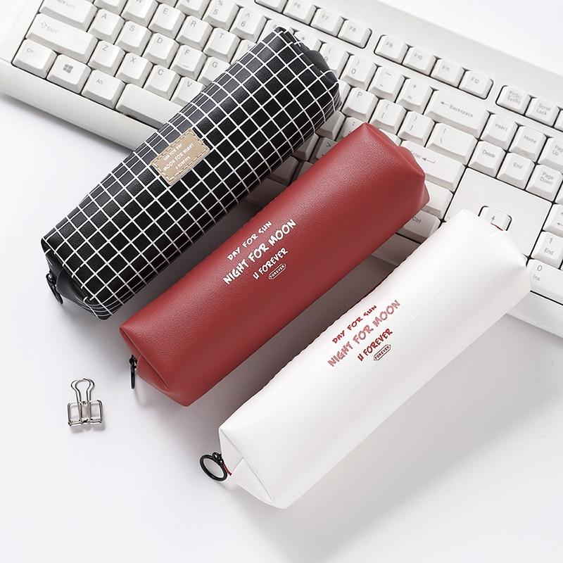 AliExpress - LATS PU High Capacity Pencil Case Cute Kawaii Pencil Bags Octagonal Pen Bags Student School Supplies Korean Stationery Gift