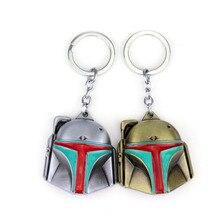 New Star Wars The Mandalorian Baby Yoda Cosplay Accessories Boba Fett Helmet Pendant Keychain Metal Key ring Key Chain Gifts Toy