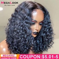 curly human hair wig deep wave bob wig t part remy brazilian human hair lace closure wig 13x5x2 transparent lace wigs for women