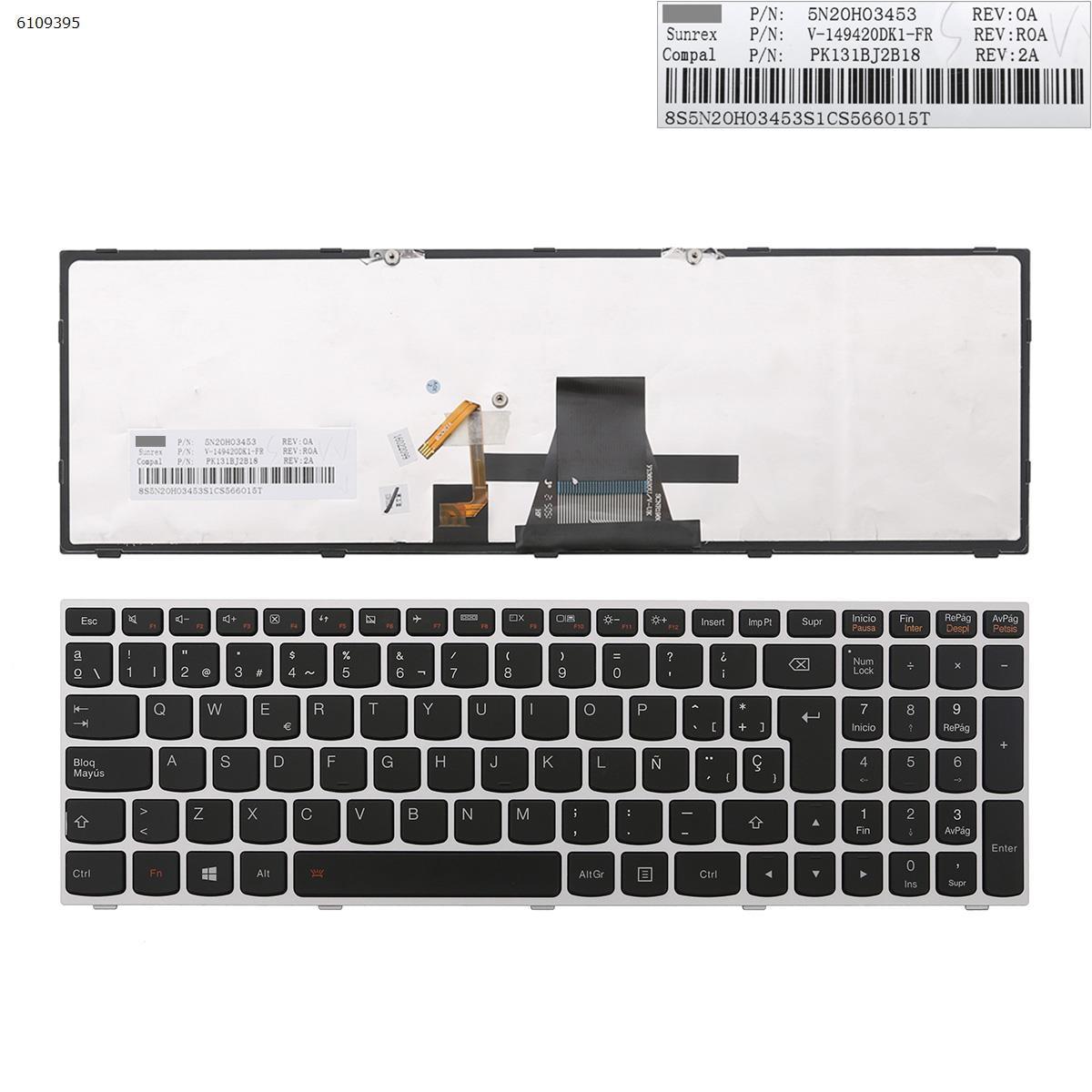 SP Spanish Layout New Replacement Keyboard for Lenovo G51-35 G70-35 G70-70 G70-80 Z50-70 Z50-75 Z51-70 Z70-80 Laptop Backlit недорого