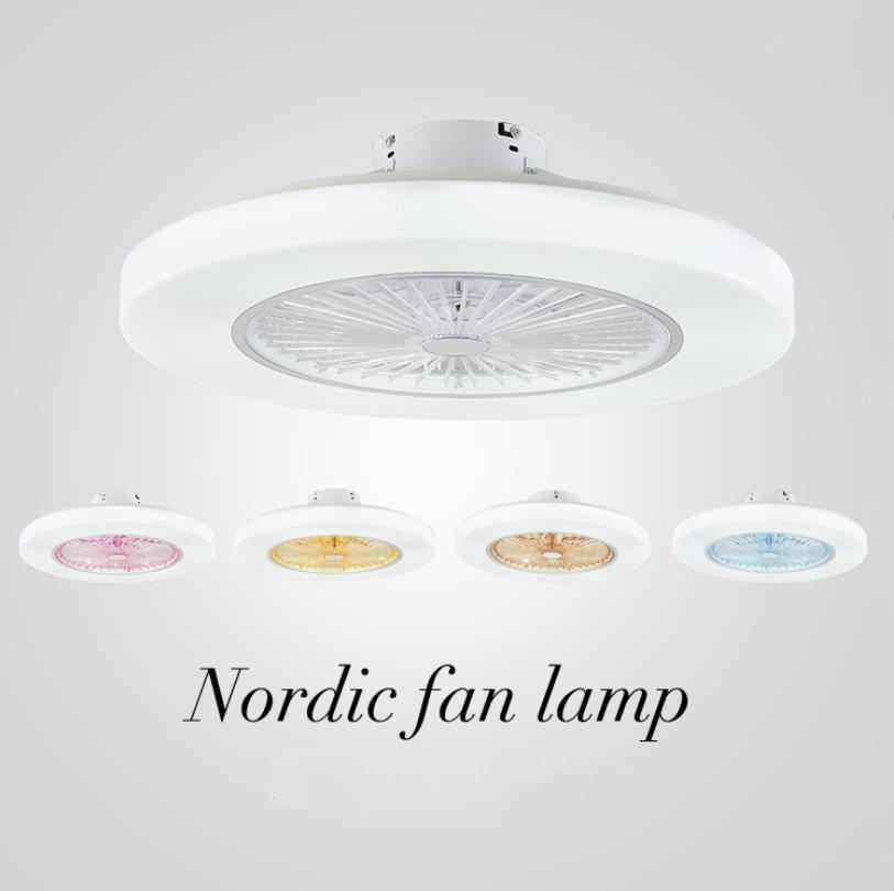 220v/110v 72W LED oscurecimiento control remoto ventiladores de techo lámpara Invisible hojas 58cm moderno simple decoración del hogar luminaria