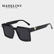 MADELINY New Fashion Oversized Square Sunglasses Women Classic Luxury Brand Designer Sun Glasses Mal