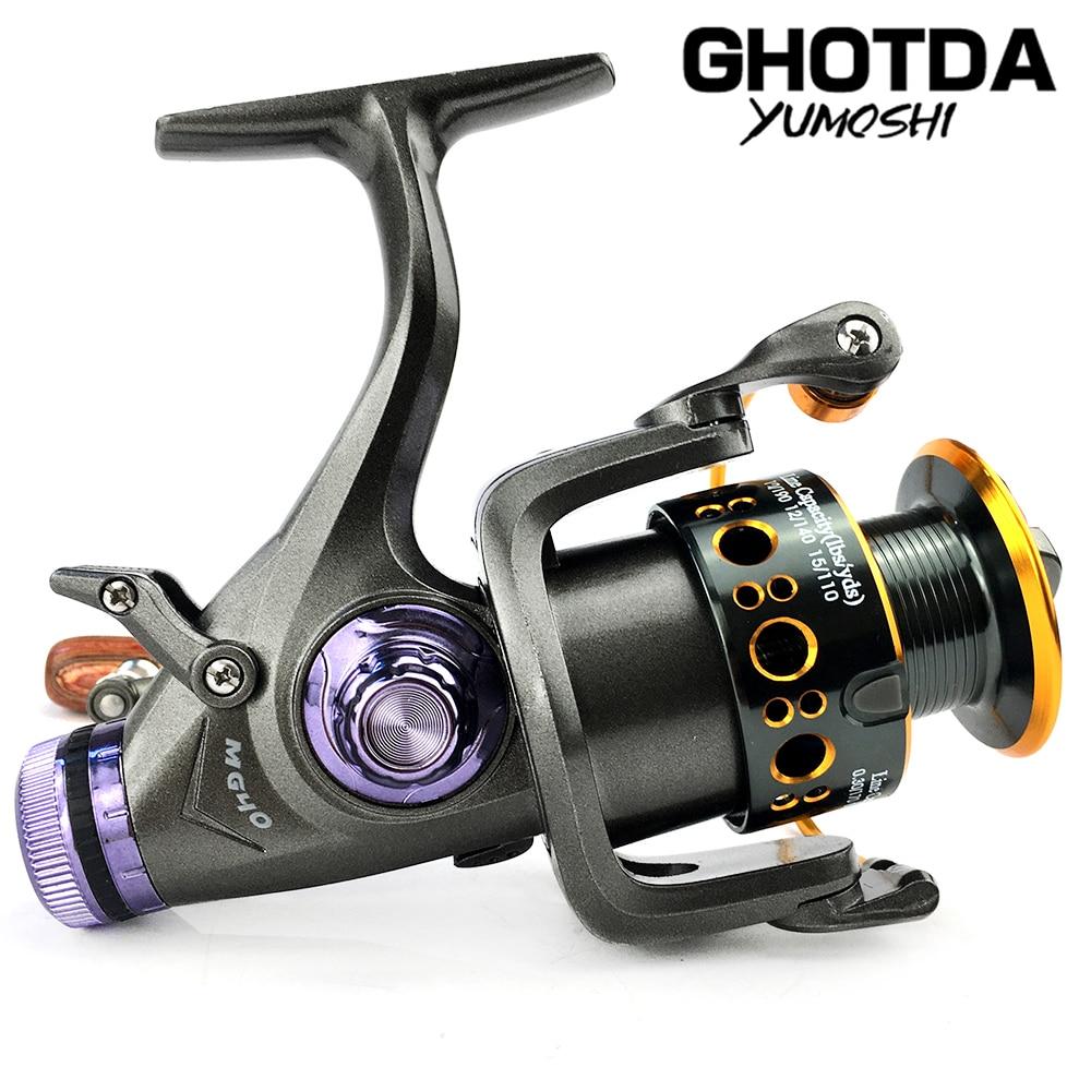 Fishing Reel MG3000-6000 Spinning Reel Double System Reel Fishing 5.2:1/5.0:1 High Speed Metal Spool Coil Fishing Reel
