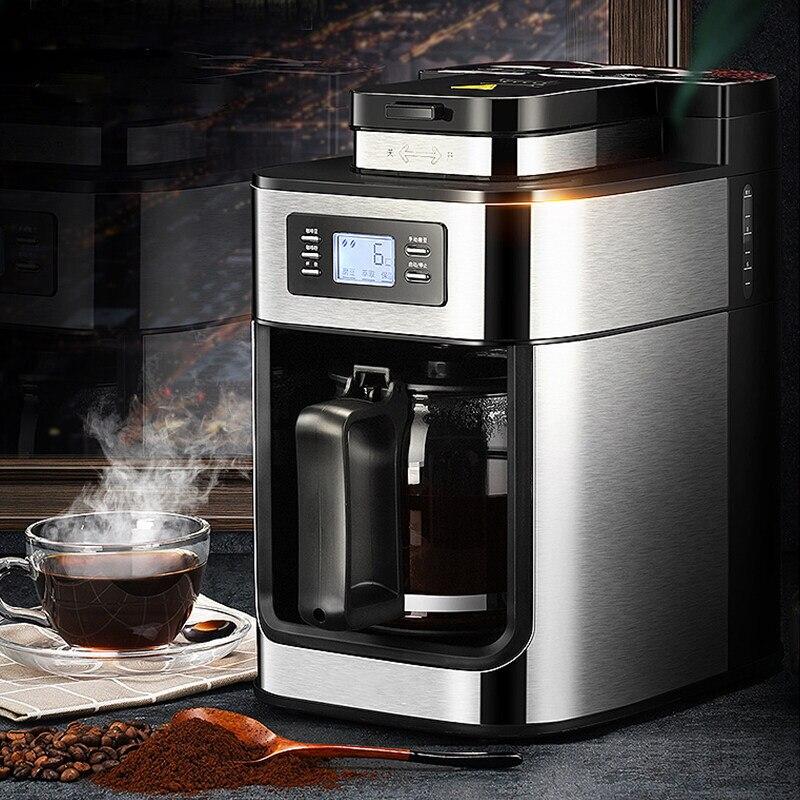 PE3200 التلقائي ماكينة القهوة الأمريكية المنزل ماكينة الطحن ماكينة القهوة الفول مسحوق ثنائي الاستخدام ماكينة القهوة الصغيرة