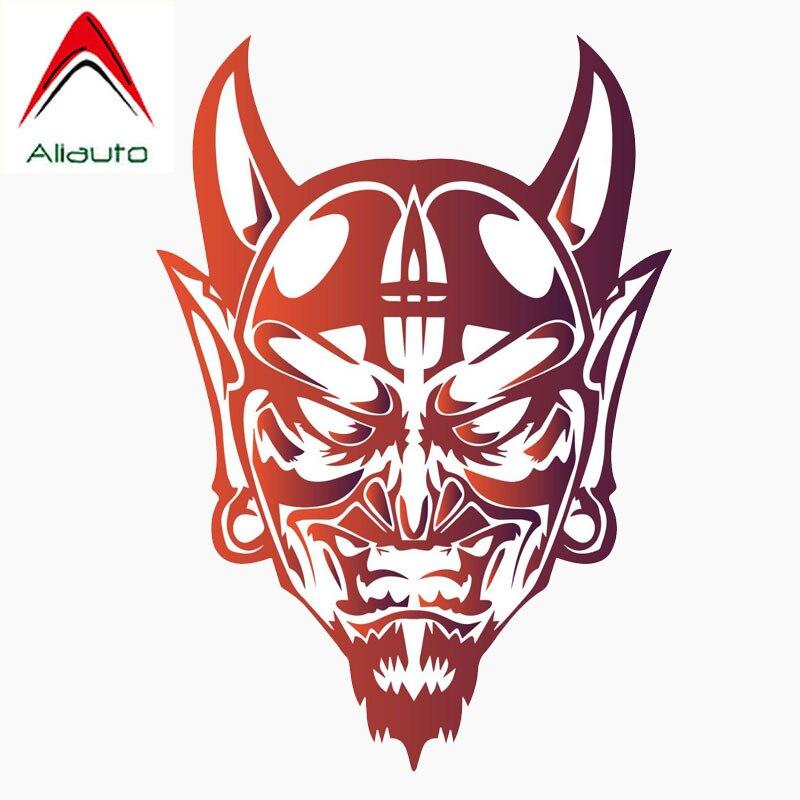 Aliauto Personality Reflective Car Sticker Devil Satan Face Evil Demon Automobile Motorcycles Decoration Decals,12cm*8cm
