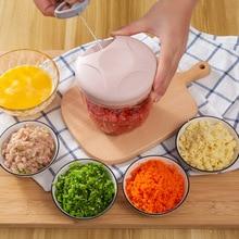 Powerful Hand-power Food Chopper Manual Meat Grinder Mincer Mixer Blender to Chop Meat Fruit Vegetable Nuts Shredders Cutter