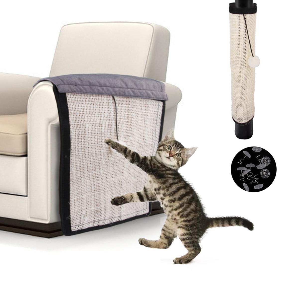 Protector de muebles para gatos y gatitos, alfombrilla para rascar Sisal, rascador, garras cuidado de gatos, juguete para sofá, poste para rascar, producto para mascotas protector