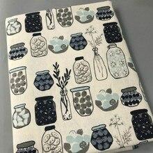 Meter Leinen Baumwolle stoff druck Vintage Baumwolle Stoff für DIY Handgemachte Textil Nähen Patchwork Für Taschen tischdecke Material