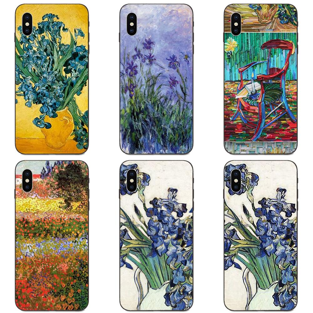 For Galaxy A10S A20S A2 Core A30S A40S A50S  A70S A90 5G M10 M30S M40 Note 10 Plus Soft Rubber Shell Phone Case Van Gogh Irises