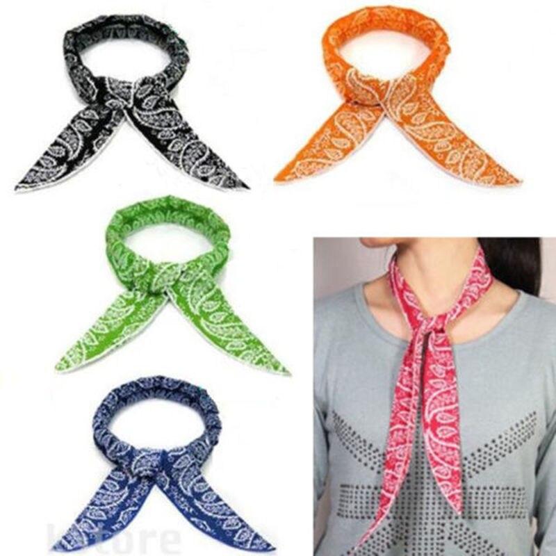 5 estilos de verano cuello enfriador bufanda de verano cuerpo de hielo fresco enfriar envoltura corbata refrescante Bandana diadema multifunción muñeca toallas