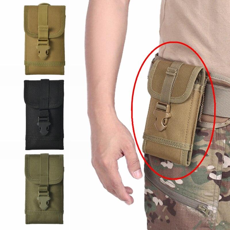 Tático militar molle bolsa telefone cinto saco ao ar livre mochila acessório caminhadas exército viagem caça náilon pacote de cintura edc