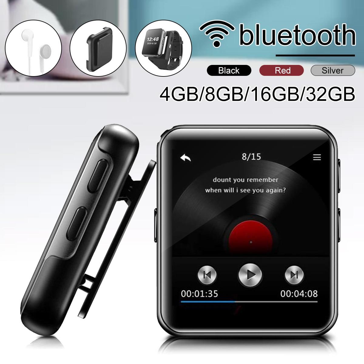 Mp3-плеер, bluetooth, сенсорный экран, 8G/16G/32G, MP3-плеер с зажимом для бега, поддерживает FM видео секундомер для детей и взрослых