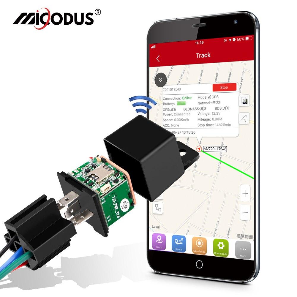 جهاز تتبع صغير بنظام تحديد المواقع متعقب السيارات ميكودوس MV720 التتابع تصميم قطع الوقود سيارة لتحديد المواقع لتحديد المواقع 9-90 فولت 80mAh الاهت...